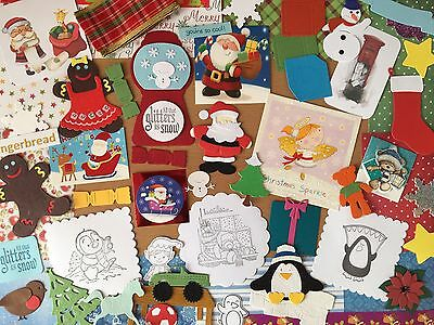 Lucky dip  Seasonal card  making kit. craft room clearout, 50 + pieces