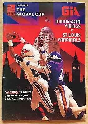 1983 Global Cup Wembley Minnesota Vikings v St Louis Cardinals PROGRAMME rare