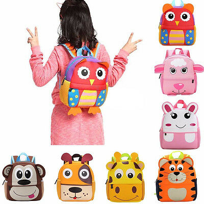 Toddler Kid Children Boy Girl 3D Cartoon Animal Backpack School Bag Kindergarte