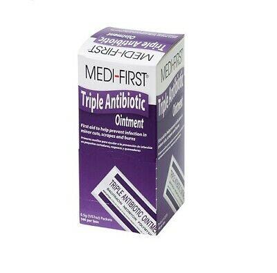 Triple Antibiotic Ointment for minor burns, cuts 144 Packets by Medi-First
