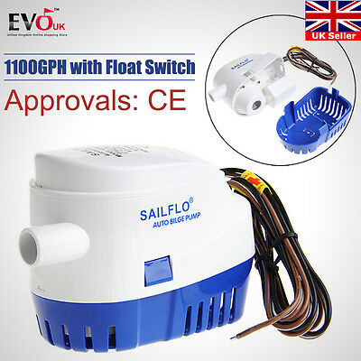 Automatic 12V Bilge Pump 750Gph With Internal Float Switch Auto Water Boat