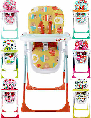 Cosatto NOODLE SUPA MULTI-POSITION HIGH CHAIR Feeding Dinner Baby/Toddler BN
