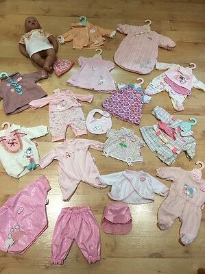 Lovely Baby Annabel Bundle Doll And Loads Of Outfits Clothes Beautiful Condition