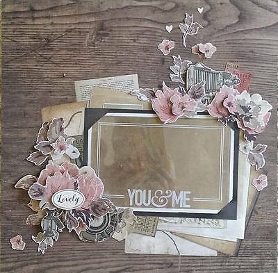 """12"""" X 12"""" Handmade Layout Pre-made Scrapbook Page - Lovely!"""