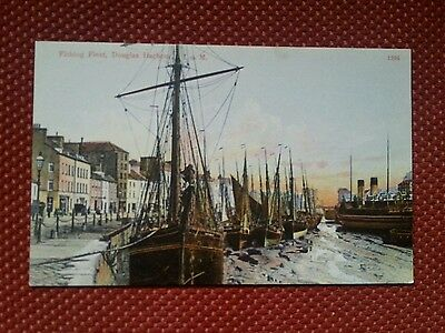 Fishing Fleet Douglas Harbour North Quay Isle Of Man Postcard Manx Iom