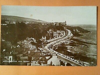 Rp Early Isle Of Man Douglas Promenade Derby Castle Onchan Head Real Photo Manx