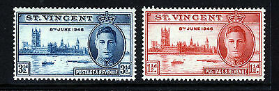 ST. VINCENT King George VI 1946 Victory Set SG 160 & SG 161 MINT