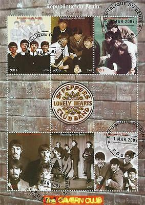 The Beatles Cavern Club Sgt Peppers Lonely Heart Club Band Cto Stamp Sheetlet