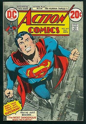 ACTION COMICS (SUPERMAN) #419 NM 9.4 (Neal Adams cover and 1st Human Target)