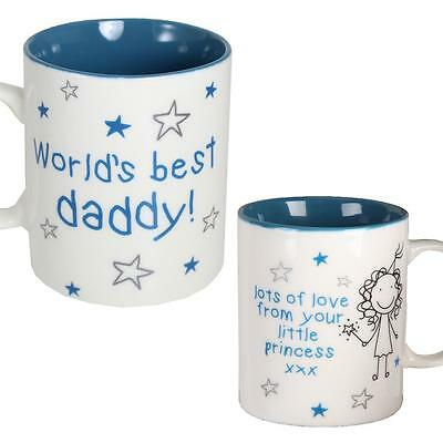 Gift Boxed Mug with Blue Writing - Fathers Day - Best Daddy From Little Princess