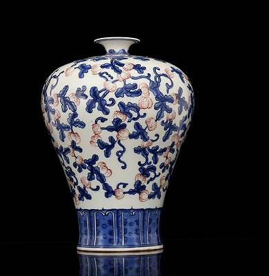 chinese ancient Blue and white youligong porcelain sculpture fruit vase