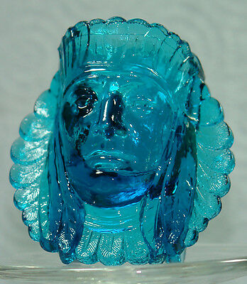 Boyd Glass Indian Head Toothpick Blue Flame