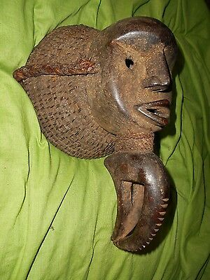 fantastic vintage African Dan ceremonial tribal mask..........Ivory Coast