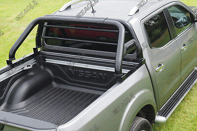 Black Roll Bar - New Toyota Hilux 2016 + (Revo) - Roll Bar Fits with Tonneau
