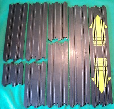 Tomy Aurora AFX Track Straights In Various Lengths x8 & Free Crash Barriers