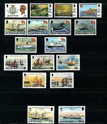 Isle of Man Lot Ships on Stamps Mint NH Sc 36-39 168-173 184-188 219-220 Sets
