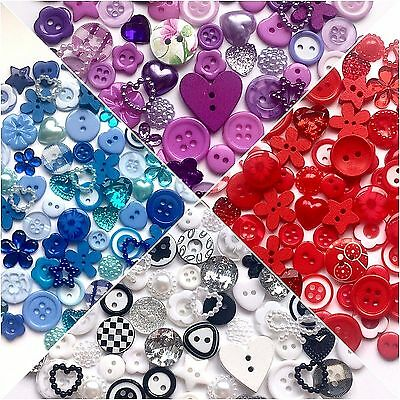 100 Quality Mixed Button Embellishment Collection Crafts Cardmaking Scrapbooking