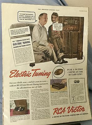 THE SATURDAY EVENING POST  1937 R.C.A. VICTOR * W.C. FIELDS & CHARLIE McCARTHY