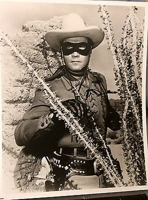 """THE LONE RANGER PHOTO 8"""" by 10"""" Glossy Black & White * CLAYTON MOORE"""