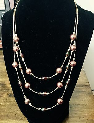 Vintage Goldtone Bead Necklace