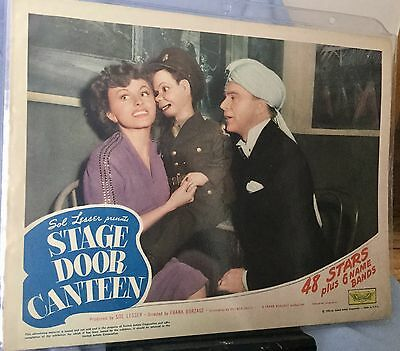 1943 Stage Door Canteen * Ina Claire Charlie Mccarthy Edgar Bergen* Lobby Card