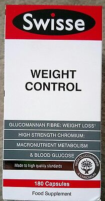 Swisse weight control appetite suppressant suppresser Hunger reducer 180 capsule