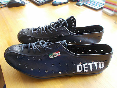 Vintage Black Leather Cycling Shoes Detto Pietro 41