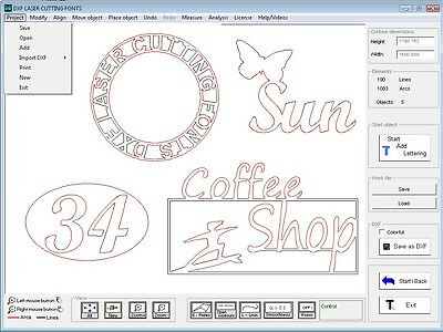 Software DXF LASER CUTTING FONTS 4.22 --  Laser- and waterjet cutting - CNC