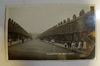 Birmingham Malmesbury Rd Small Heath B10 Real Photo Postcard Post Card Vtg Old