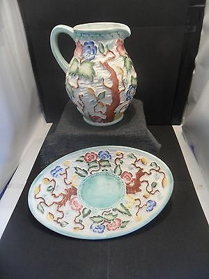 indian tree jug & bowl by h.j. wood