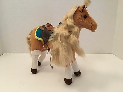 """Only Hearts Club Plush Stuffed 9"""" Horse Toy Poseable Brown White"""