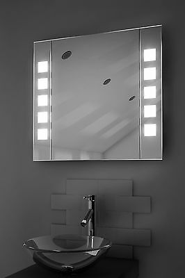 LED Illuminated Bathroom Mirror Cabinet with Sensor, Shaver - c16LED