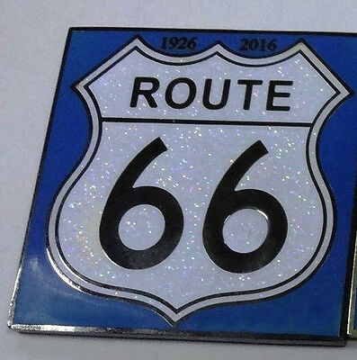 """Route 66"" Glitter Street sign BN GCF 2016 Geocoin coin New&Unactivated"