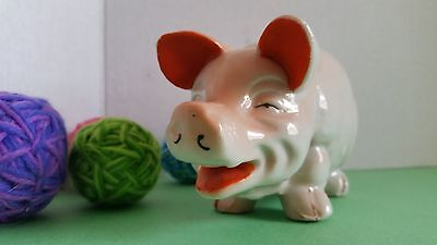 Vintage Made in Japan Porcelain Pig Piggy Bank with Slot VERY OLD LOOKING