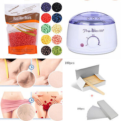 Professional Hard Wax Beans Hot Wax Warmer Heater Machine For Hair Removal set