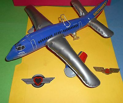 Southwest Airlines Inflatable Hanging Airplane Junior Jr Pilot Kiddie Wings Lot