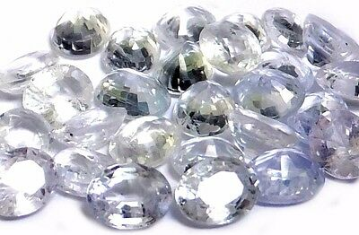 NATURAL UNHEATED WHITE SAPPHIRE GEMSTONES UNHEATED LOOSE 2 pieces OVAL SHAPE