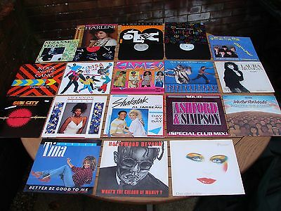 "Record Collection 12"" Singles 1980s Shakatak Asford Kool Cameo Relax  x 12 Lot"