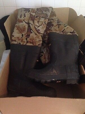 Browning 4mm Neoprene Boot-Foot Chest Wader Sz. 10 Camo New In Box
