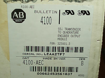 NEW Allen-Bradley 4100-AEC Absolute Encoder Converter Series B