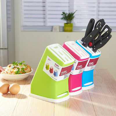 New Plastic Multifunction Knife Storage Rack  Block Holder Stand Kitchen tool