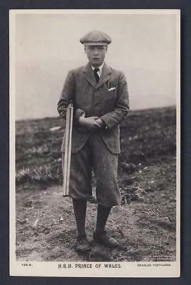 H.R.H. PRINCE OF WALES (EDWARD VIII) photo by Earnest Brooks - Royalty postcard