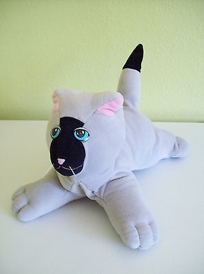"""Vintage Tonka Pound Pur-r-ries Kitty Cat Purries Large Grey Black 12"""" 1985"""