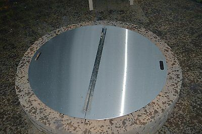 """Firebuggz 40"""" Round Stainless Steel Fire Pit Cover 14 gauge 430 stainless"""