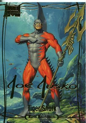 Marvel Masterpieces 2016 ''Gold Signature'' Base Card #2 Tiger Shark