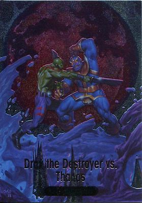 Marvel Masterpieces 2016 Battle Spectra Chase Card BS-8 Drax The Dest. & Thanos