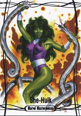 Marvel Masterpieces 2016 Purple Parallel [#/199] Base Card #76 She Hulk