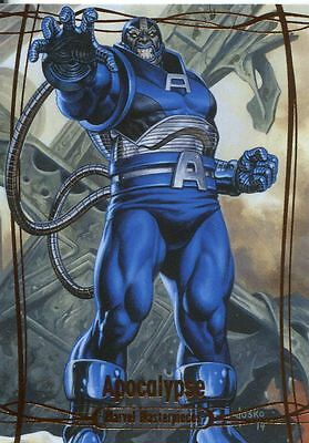 Marvel Masterpieces 2016 Orange Parallel [#/99] Base Card #70 Apocalypse