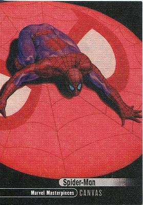 Marvel Masterpieces 2016 High Number Canvas Chase Card #91 Spider-Man