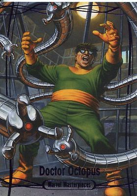 Marvel Masterpieces 2016 Purple Parallel [#/199] Base Card #49 Dr. Octopus